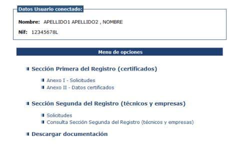registrar el certificado energético en Aragón