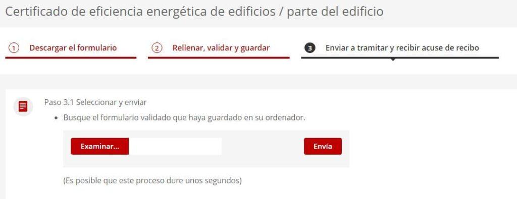 Enviar la solicitud para el certificado energético en Cataluña