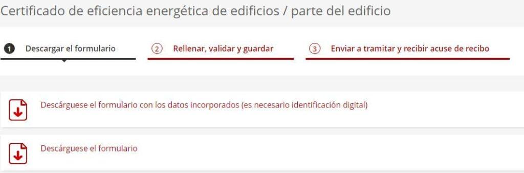 Primer paso para registrar el certificado energético en Cataluña