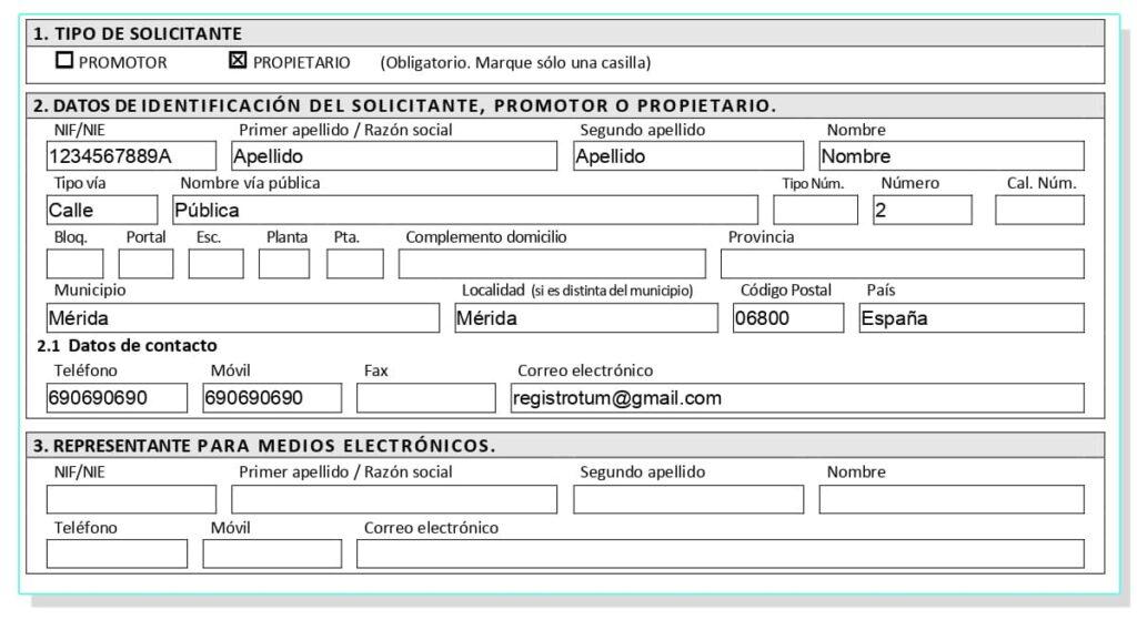 Solicitud para registrar el certificado energético Extremadura.