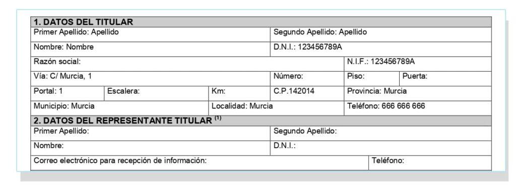 Paso para registrar el certificado energético en Murcia