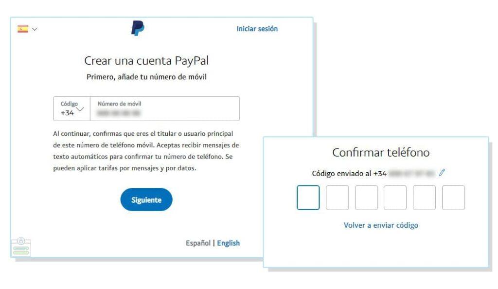 Pasos para registrarse en Paypal