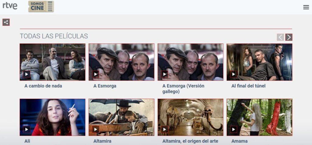 La web de RTVE también permite ver series y películas online sin registro