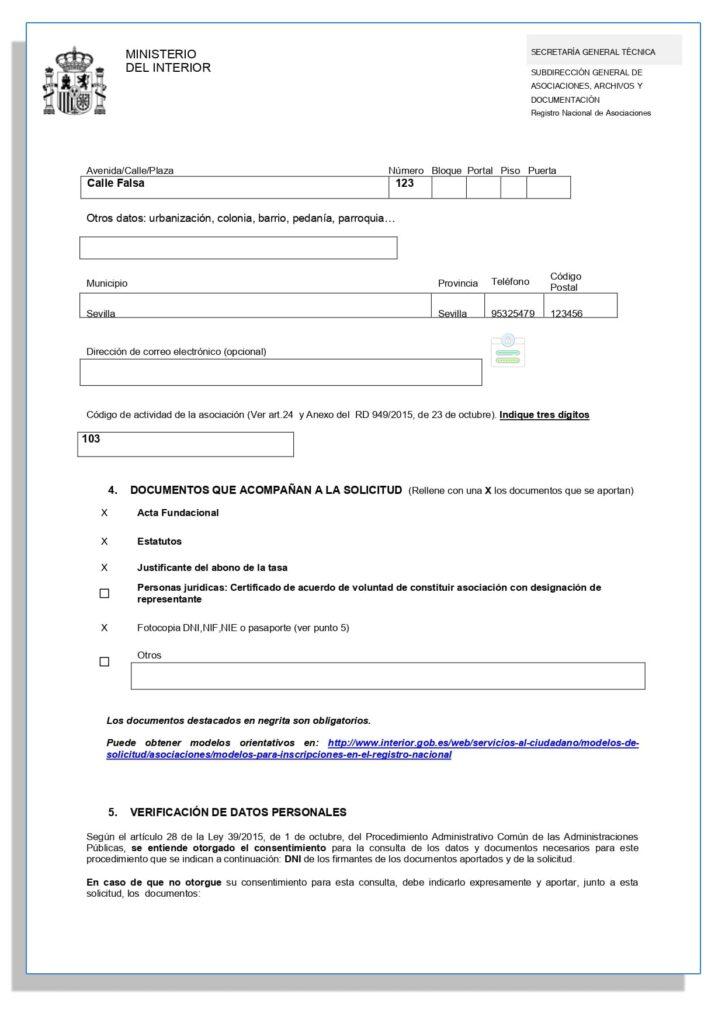 Solicitud para registrar una asociación sin ánimo de lucro