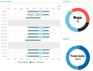 Captura de CheckJC, herramienta para el registro horario.