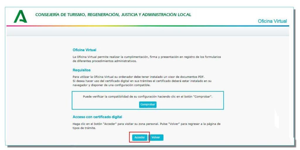 Inscripción en el Registro de Turismo de Andalucía